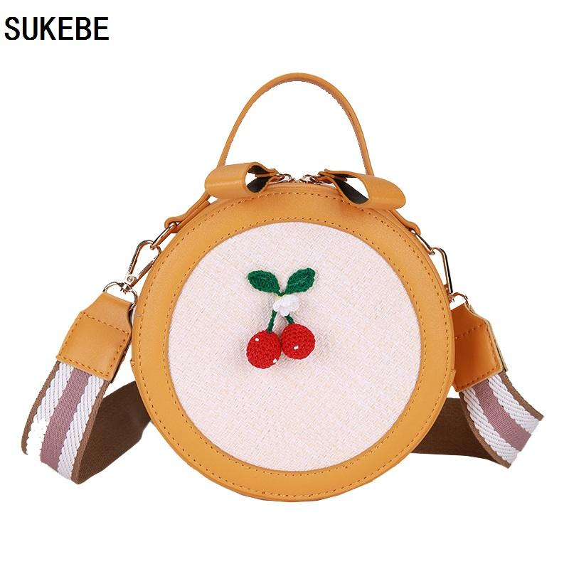 daccc2da5ba0 SUKEBE Women Totes Bag Fashion Circular Leather Patchwork Handbag For Girl  Mini Round Lady Shoulder Messenger Bags Wallets For Women Ladies Handbags  From ...