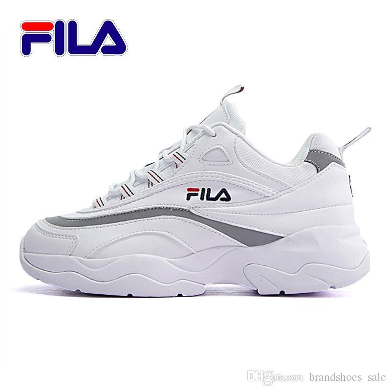 dfd878cc9 Compre 2018 Fila New White Cinza Bala Correndo Clássico Lazer Tênis De  Basquete Esportes 11 S Sports Sneaker Shoes Tamanho 36 44 De  Brandshoes sale