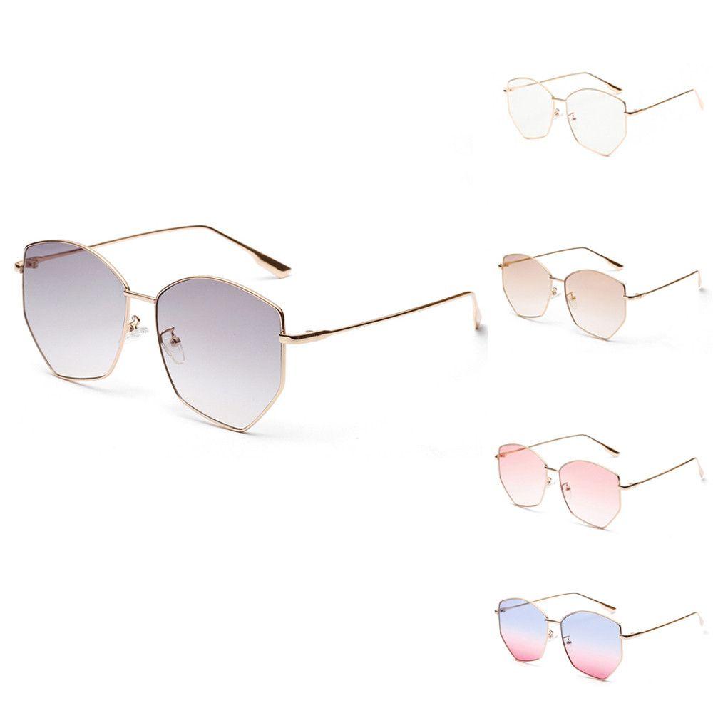 9caca91dfd Mens Womens Irregular Metal Frame Retro Vintage Sunglasses Eyeglasses  Sunglasses For Women Metal Reflective Flat Lens Sun Glass Cheap Designer  Sunglasses ...