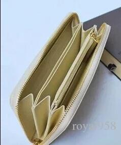 Brand hot men's and women's holding a purse single zipper banknotes folder card wallet clutch bag no box 4 color