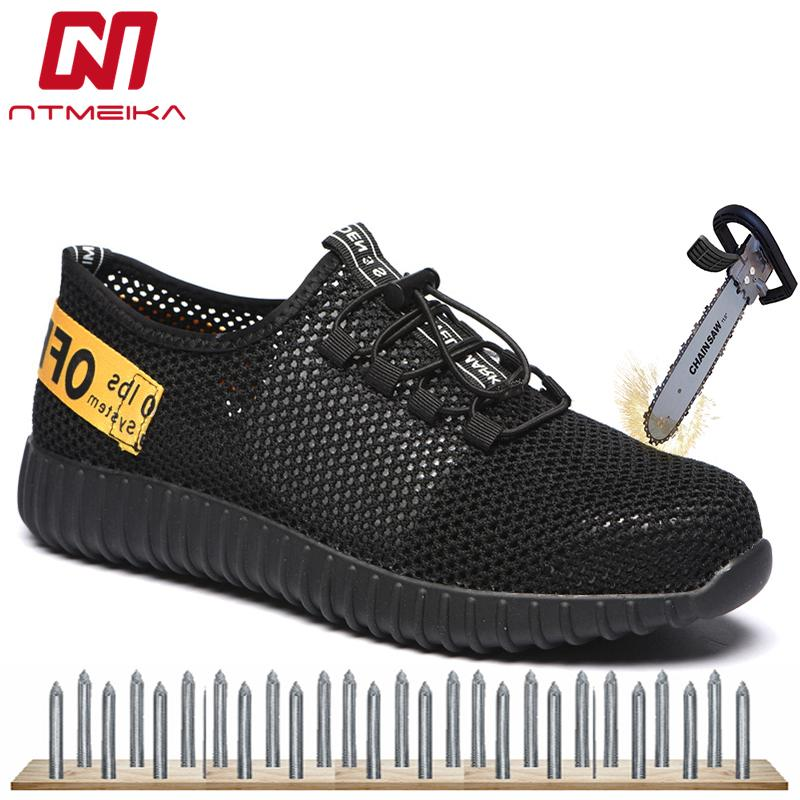 017eb2889dba Summer Fashion Safety Shoes Steel Toe Breathable Work Boots Men Puncture  Proof Safety Footwear Casual Work Shoes Men Size 35 46 Womens Boots Boots  Uk From ...