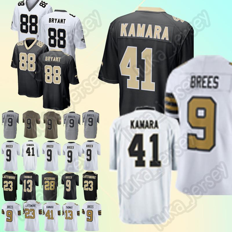 ... top quality 41 alvin kamara jersey 9 drew brees new orleans saints 13  michael thomas 88 946eea977