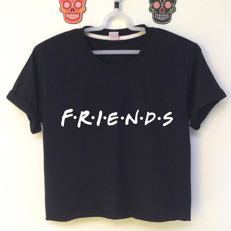 57b9fd93f44 2018 Fashion Crop Top Women Friends Tv Show Letter Printed Funny Summer  Tops Sexy Short Sleeve T Shirt Cropped Top Girl Top Tee Shop T Shirts  Online T Shirt ...