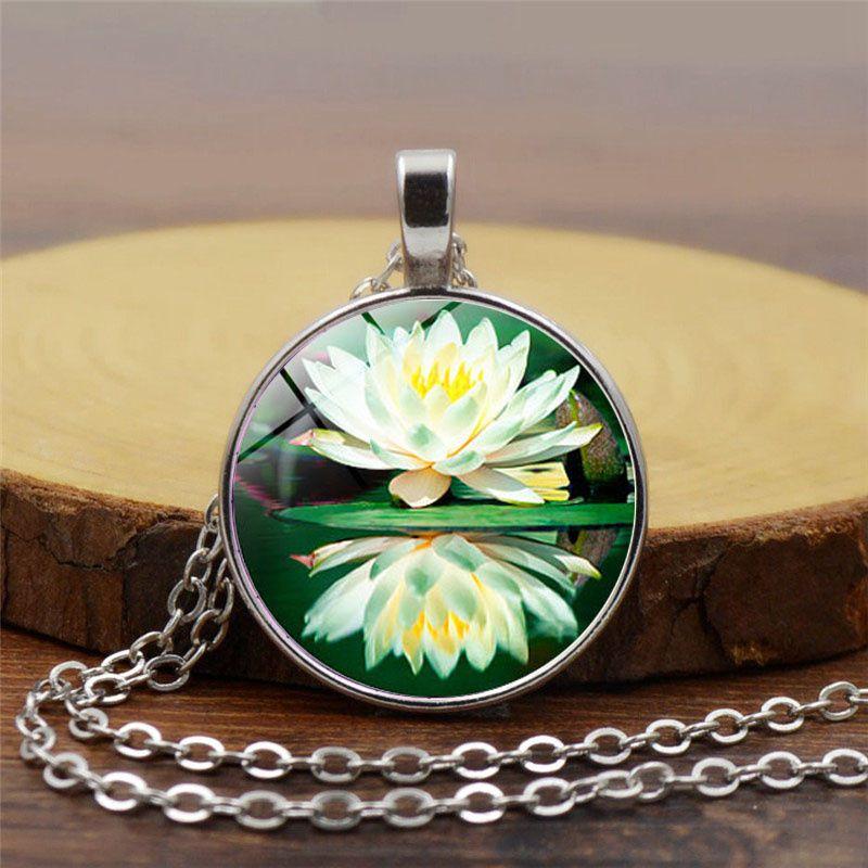 Wholesale 7 Kinds Charm Mandala Lotus Flower Necklace Pendant Om