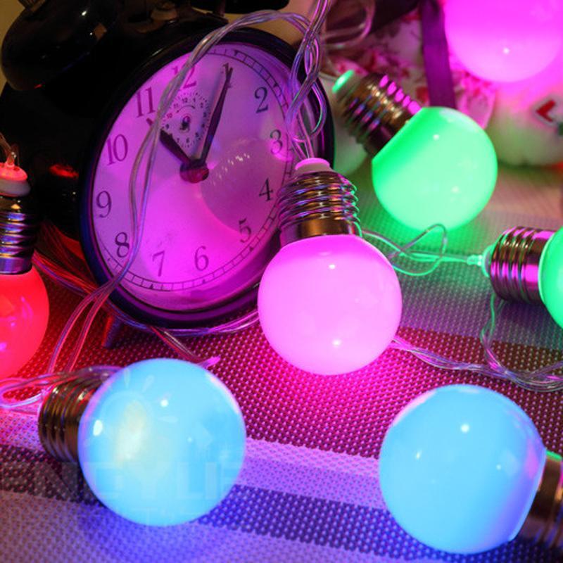 E27 Impermeabile 10m LED String Ball Lights Ghirlanda tende Lampade di grandi dimensioni fata matrimonio Indoor Outdoor Christmas Holiday Lighting