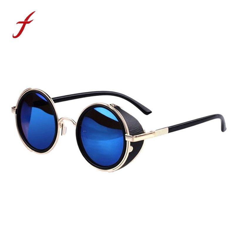 Acheter Feitong 2018 Vintage Lunettes De Soleil Steampunk Miroir Objectif  Lunettes Rondes Cyber lunettes Lunettes De Soleil Steampunk Femme Gafas De  Sol ... f43c02124b37