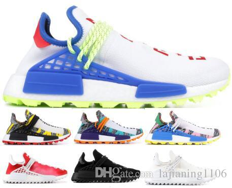 7ce95954f59ca 2018 Human Race Pharrell Williams Hu Running Shoes Sneakers Men Women Blue  Trail Solar Pack Creme X Pw Nerd Sports Trainer Zapatos Shoe Shoe Sale  Running ...