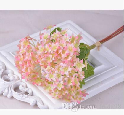 Flor de simulación Hydrangea Mini Seashell Hydrangea decoración del hogar simulación flor Hydrangea venta al por mayor Mini bola de nieve L153