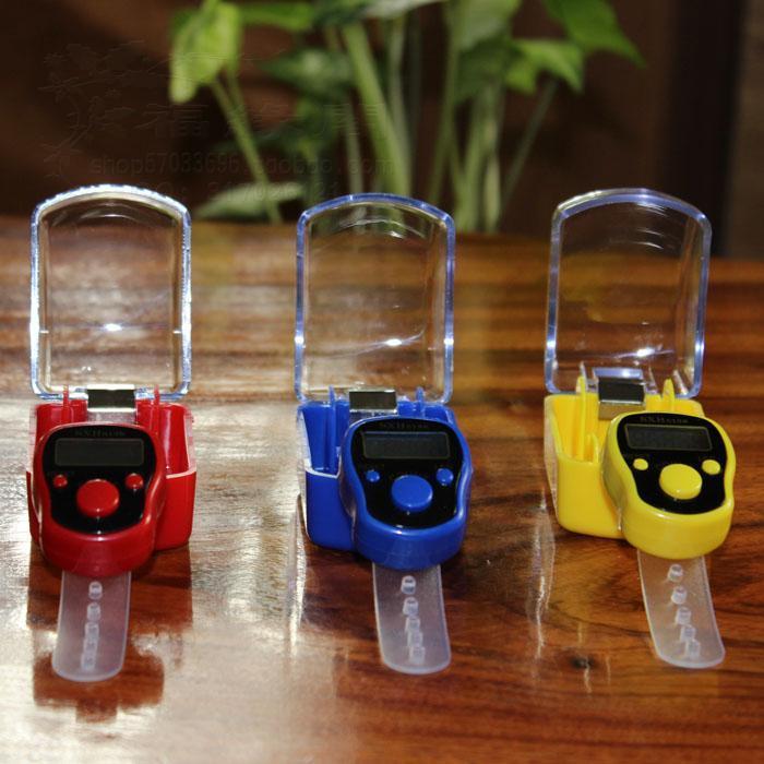 5 Haneli Numarası Mini Dijital LCD Elektronik El Parmak Yüzük Tally Sayaç Kutusu Ile Golf Renkli Spor Için 120 adet