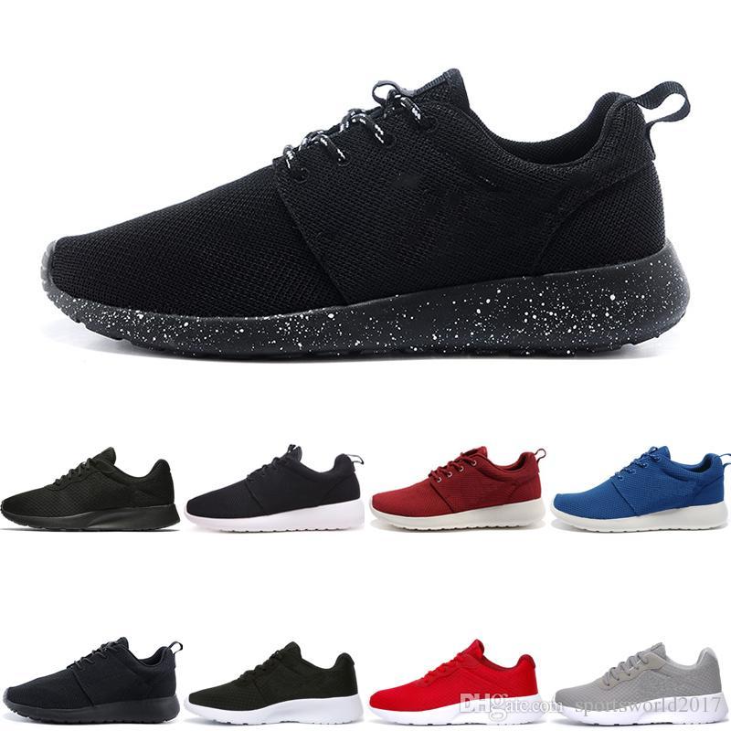 online store 928df d6181 Acheter Nike Air Roshe Run One Tanjun Coureur Pas Cher Classique Course  Chaussures De Course Pour Hommes Femmes Noir Léger Léger Respirant Londres  ...