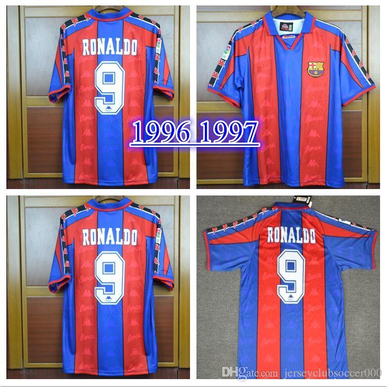 7fee6688d 96 97 Ronaldo Home Jersey Retro Retro Camiseta De Fútbol 1996 1997 Ronaldo  Camiseta De Fútbol Clásica Calcio MAGLIA Maillot Camisa De Futebol Por ...