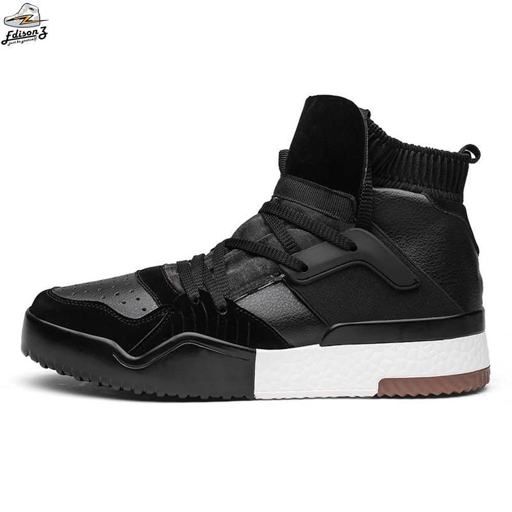 73218221ef9c4 Compre 2018 Nuevos Hombres Zapatos Casuales Ultras Aumenta Zapatos Hombre  Moda Planas Transpirables Calcetines Zapatos Hombres Tenis Masculino Adulto  ...
