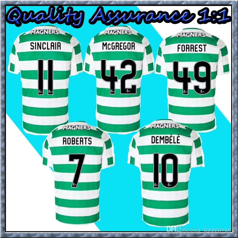 cf07c7711 2018 2019 Scotland League Celtic Soccer Jerseys AWAY Armstrong GRIFFITHS  LUSTIG SINCLAIR BITTON BROWN 18 19 Best Quality Football Shirts Canada 2019  From ...