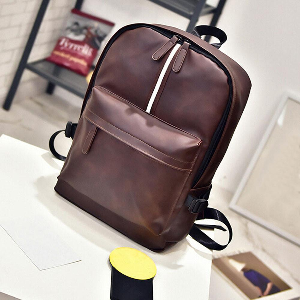 84c2f5b45110 Vintage Men S Women S Leather Zipper Solid Bag Laptop Satchel Travel School  Rucksack Bag Crossbody Purses Ladies Purse From Sunace