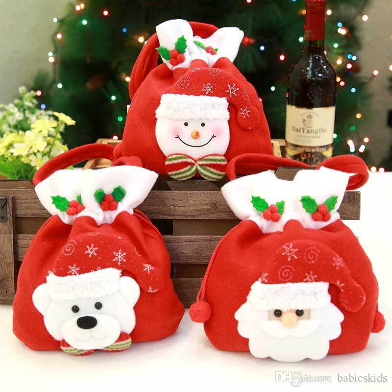 Großhandel Silvester Weihnachtstages Dekoration Süßigkeitstasche ...