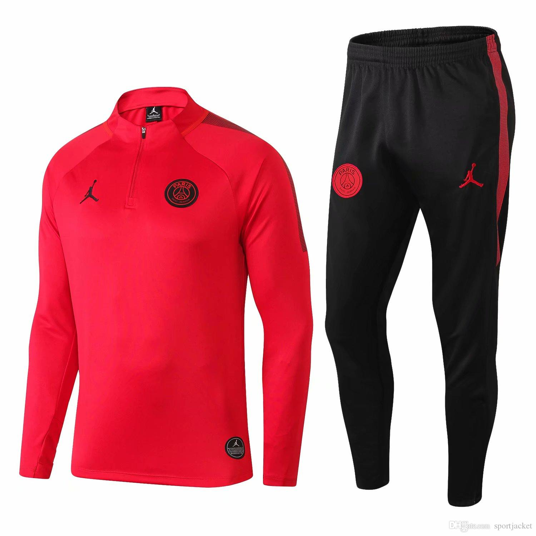 4af9ee5b5aac 2019 Best Seller New PSG Tracksuits VERRATTI 18 19 Paris Saint Germai Sportswear  Suit CAVANI Training Suit Soccer Jersey MBAPPE Sport Jacket From ...