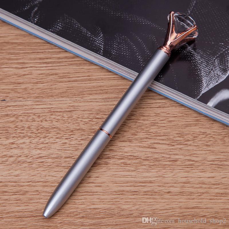 2018 Crystal Ballpoint Pens Ballpen Fashion multi colors Large Diamond Ballpoint Pens School Stationery Office writing Supplies