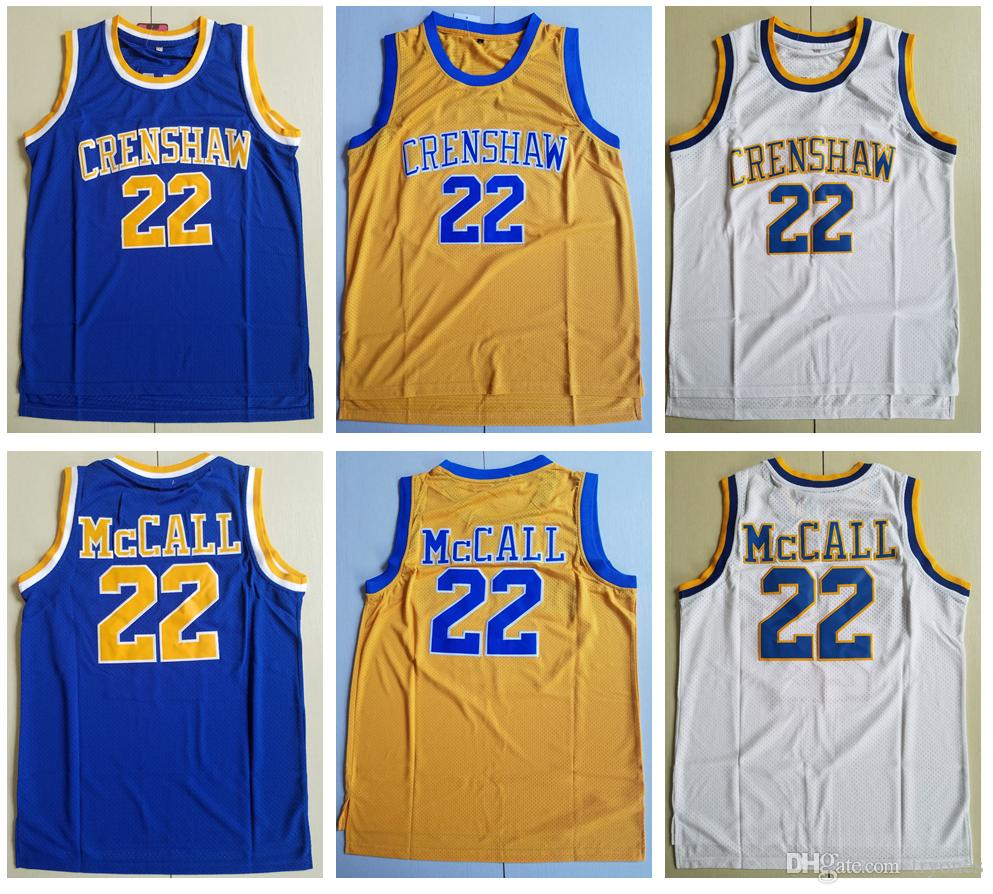 87284de8a3c 2019 Mens LOVE And BASKETBALL MOVIE JERSEY 22 Quincy McCall Crenshaw ...