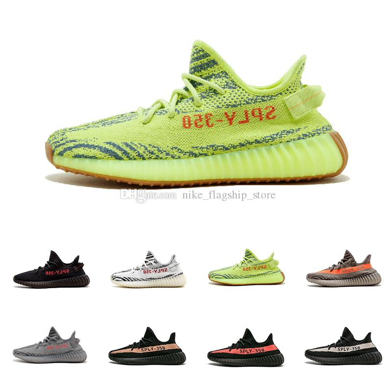 With Box semi Frozen Yellow Mens 350 V2 SPLY Zebra bred Black White Kanye West Grey Orange Red Women Running Shoes Sport 36-45 quality from china cheap free shipping low cost really cheap YXJwgp3XU
