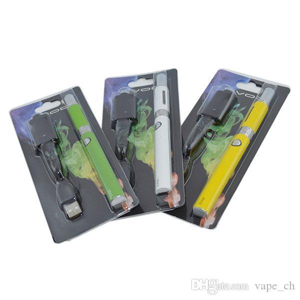 EVOD MT3 Blister kit Single Kits eGo Starter Kits e cigs Cigarettes 650mah 900mah 1100mah EVOD Battery MT3 Atomizer