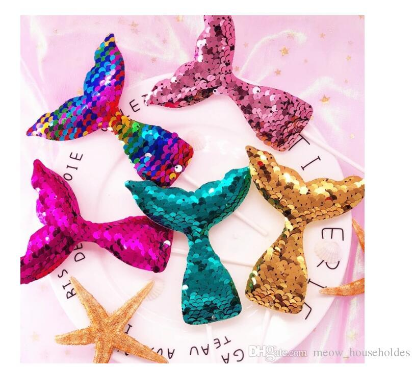 Creative Under The Sea Wedding Party Bridal Shower Birthday Cake Decor colorful Sequins Mermaid Tail Cupcake Topper Party Decoration