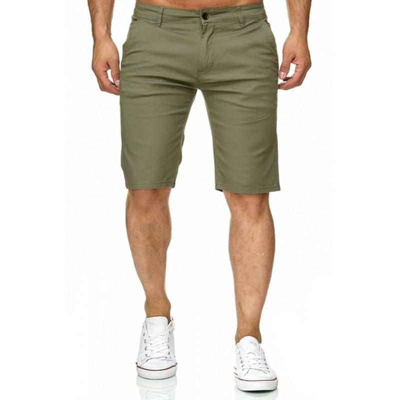 e968caf39b 2019 2018 Summer Men Smart Casual Fitness Solid Knee Length Mid Waist  Fitness Fashion Cargo Shorts Straight Zipper Fly Casual Shorts From Lucu,  ...