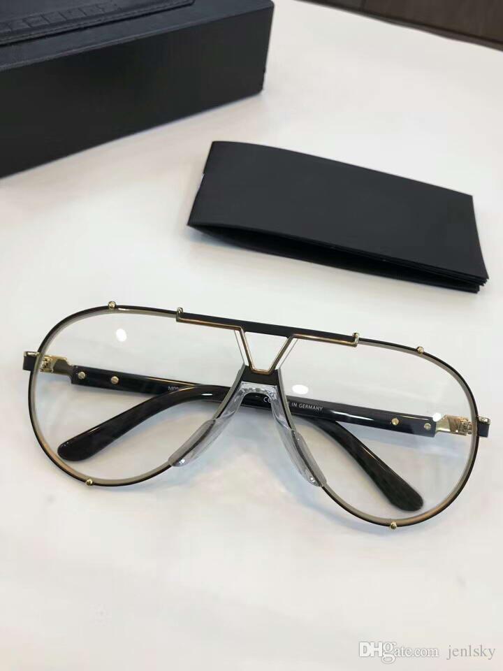 ef94e1dba4 Men 909 Gold Black Pilot Eyeglasses Clear Lenses Legends Glasses ...