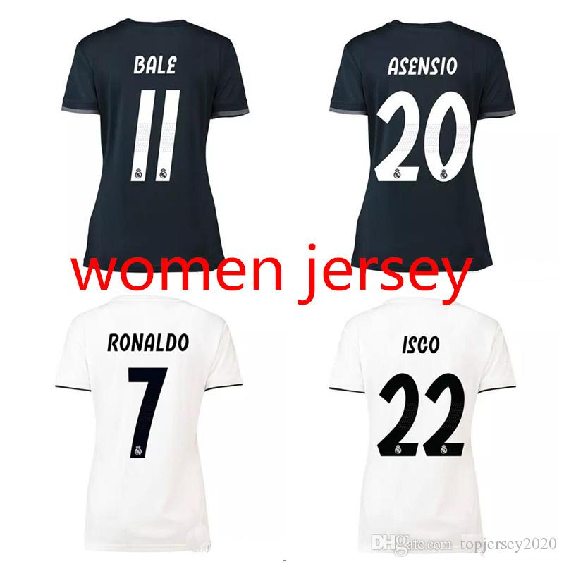 7e88cb745 Thai 18 19 Real Madrid Women Soccer Jerseys RAMOS MODRIC Lady ...