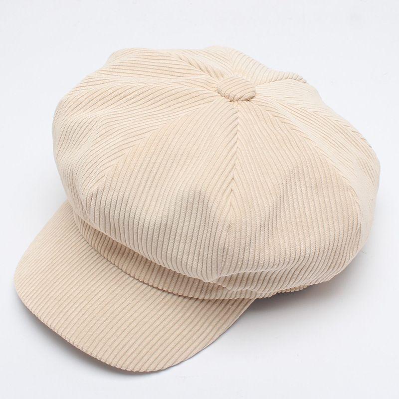 605307f64b3 Wool Women Newsboy Cap Solid Brown Black Octagonal Cap British Style  Vintage Flat Hat Ladies Beret Autumn Winter Online with  15.2 Piece on ...