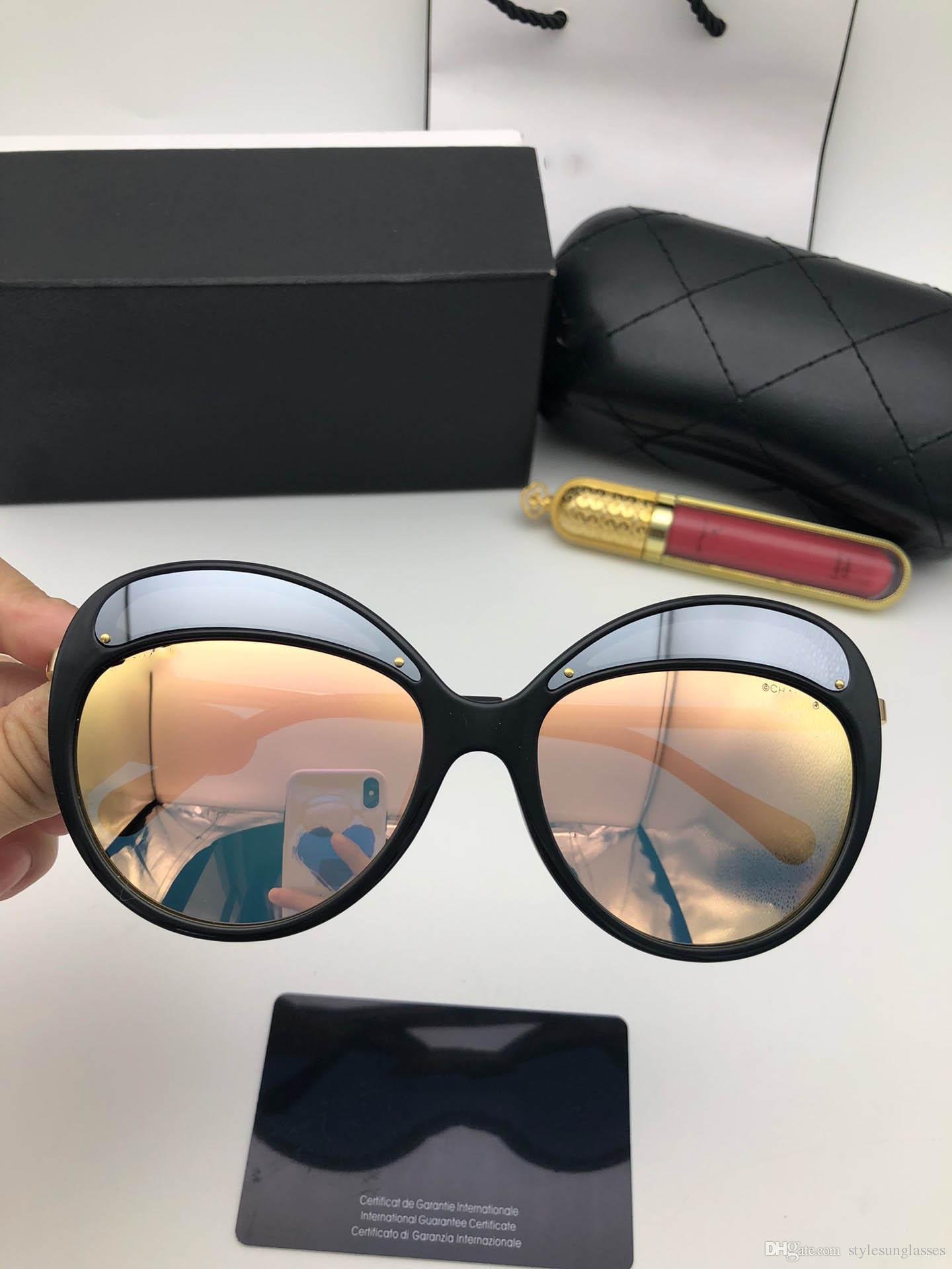 d4a47165c0704 Compre Chanel Cat Eye Custom 2018 Designer De Resina Espelho Oval Quadro  Completo Das Senhoras Dos Homens De Verão Nova Moda De Moda Uv400 Luz Dos  Olhos ...