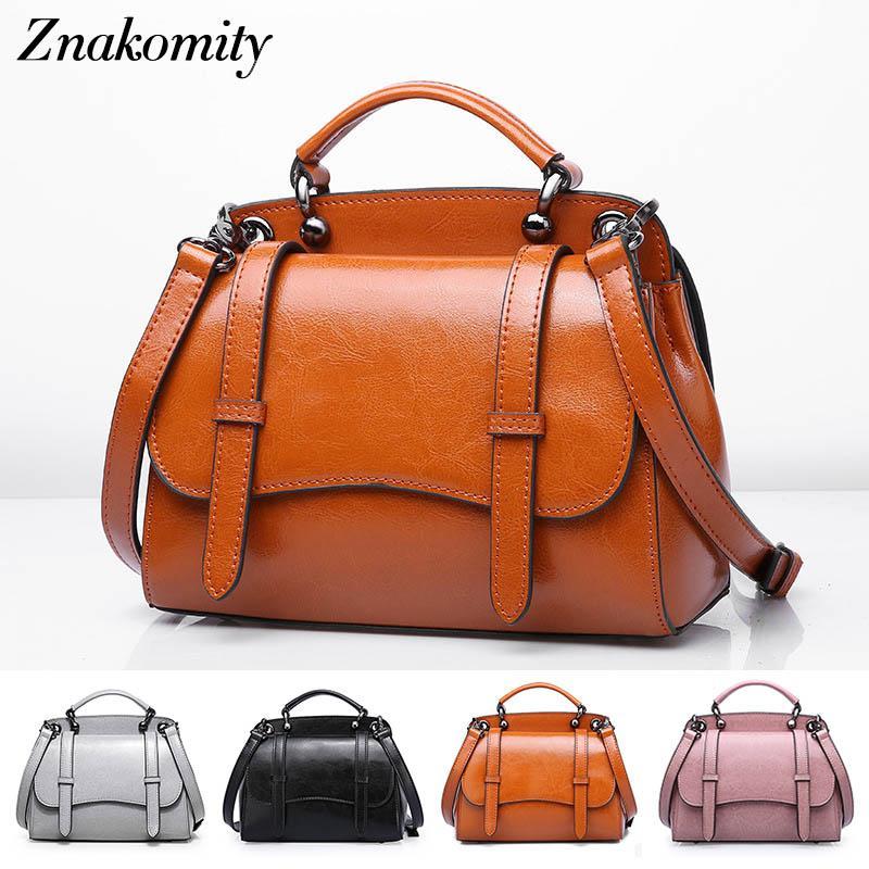 d517cf110bfd Znakomity Small Real Cow Leather Vintage Women Handbags Female Genuine  Leather Shoulder Messenger Bags Brown Retro Crossbody Bag Pink Handbags  Branded ...
