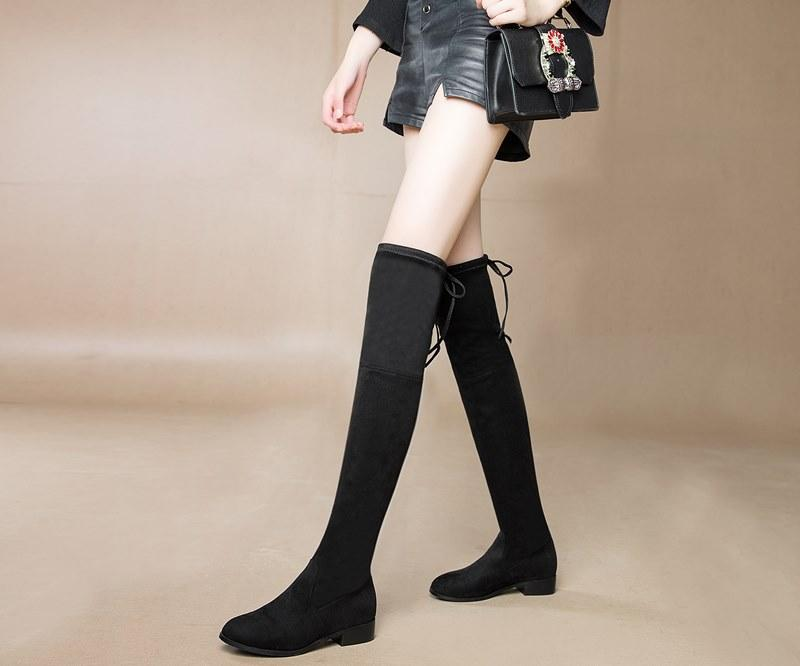 599d936f3314 Colors Women Faux Suede Thigh High Boots Women Flat Comfort Sexy Slouchy  Over The Knee Boots Ladies Spring Autumn ShoesMD 020 Combat Boots Rain Boots  From ...
