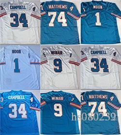 2018 Oilers Retro  9 Steve Mcnair  1 Warren Moon  34 Earl Campbell  74  Bruce Matthews Mens Stitched Football Jersey From Hs080232 a1dbc3e2f