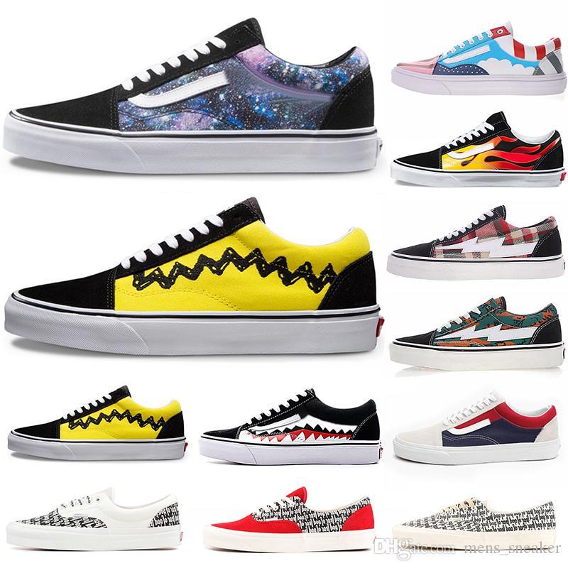 8d8100c42 Compre Vans Sneaker Roshe Run Off White Nuevo Para Hombre Calzado Deportivo  Para Mujer Zapatillas Old Skool Par Zapatos De Skate Clásicos Calzado  Casual ...