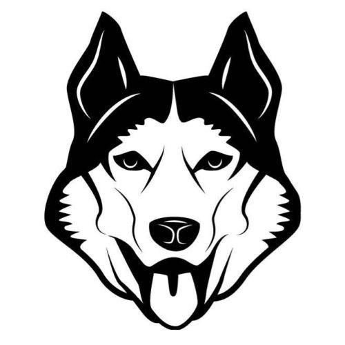 Dog Head Car Sticker Vinyl Car Packaging Body Decal Personality