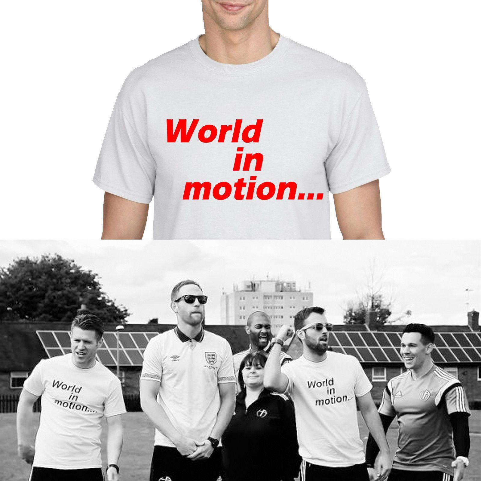 de24a825fb6b98 Großhandel Welt In Bewegung 1990 England Song Kult New Order Fußball Shirt  Barnes 890 Lustige Kostenloser Versand Unisex Casual Tee Geschenk Von  Tshirtsinc, ...