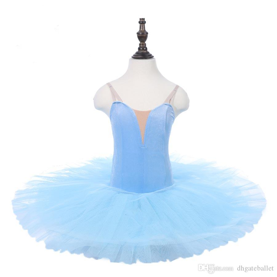 Blue Bird Classical Ballet Tutu Royal blue Children Professional Pancake Platter Tutu Stage Ballet Dress red purple black white