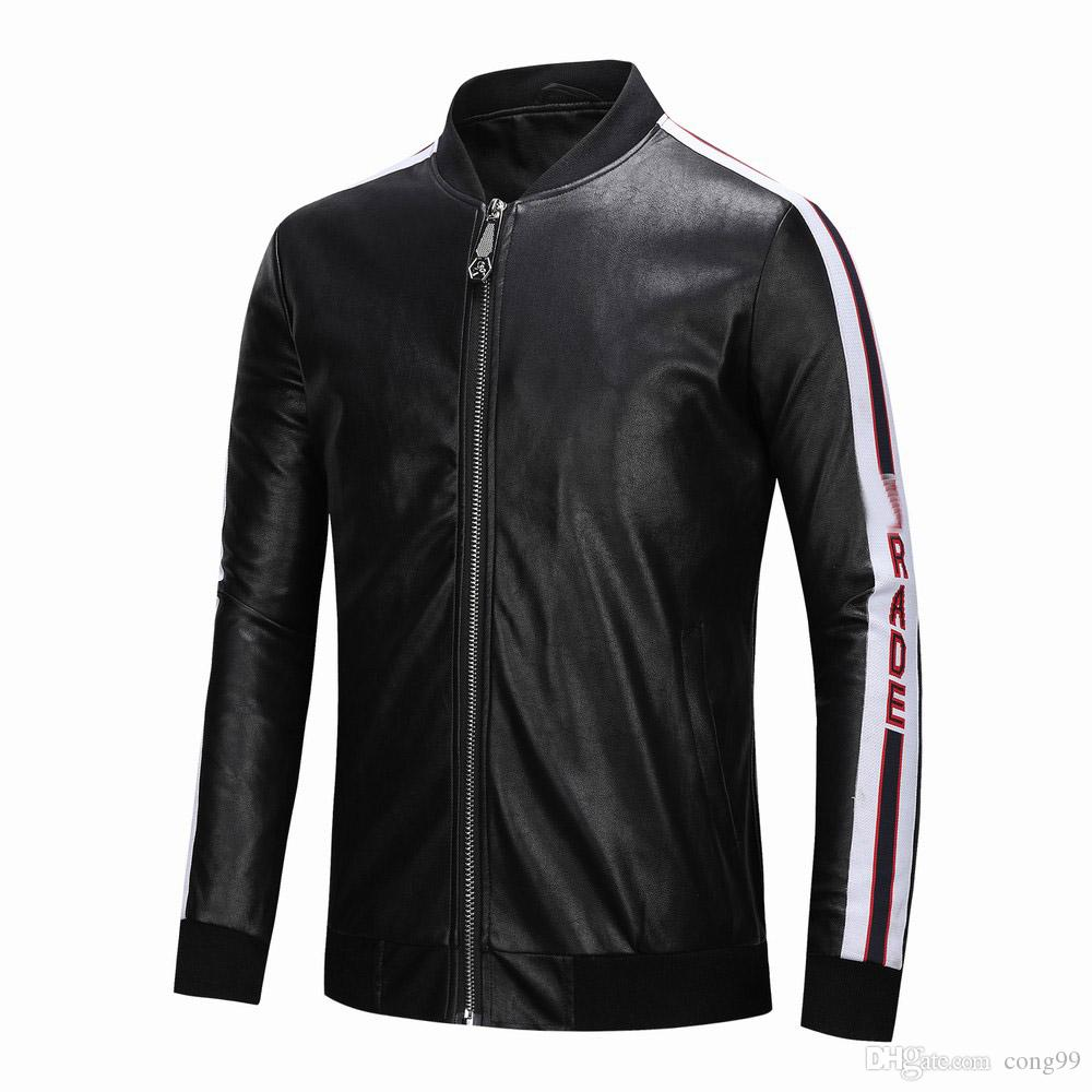 new hot Mens Leather Jackets PU 2019 medusa Men Jacket High Quality Classic Motorcycle Bike Cowboy Jackets Male Coats M-3XL