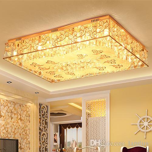 Attraktiv Moderne LED Deckenleuchter Luxus Kreative Rechteck Wolke Kristall  Kronleuchter Lichter Für Hotel Villa Wohnzimmer Decken Kronleuchter