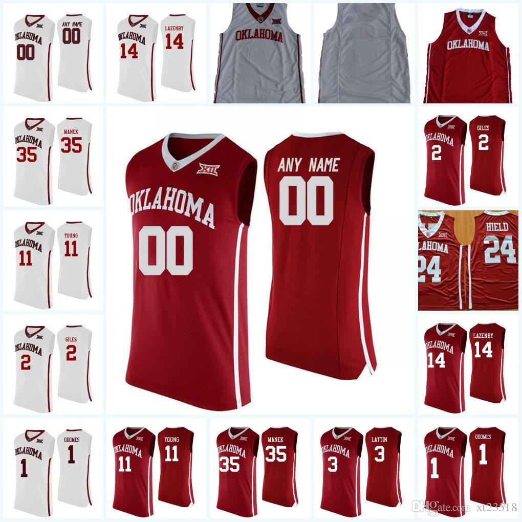 f2a37bdd6f9 2019 Custom NCAA Oklahoma Sooners College Basketball Jerseys 0 Christian  James 3 Khadeem Lattin 11 Trae Young OSU Sooners Personalized Jersey From  Xt23518