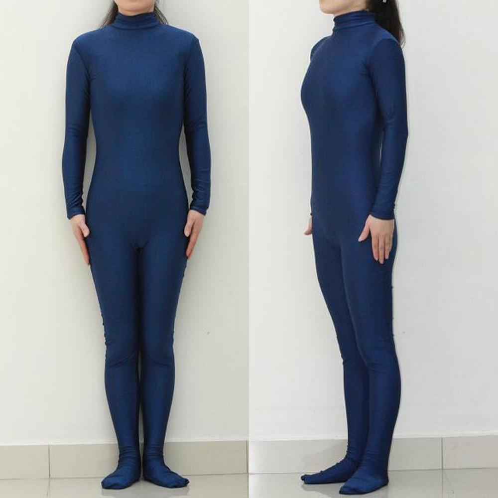 (LBS012) Sexy Lycra Spandex Dark Blue Unisex Party Leotard Catsuit Halloween Cosplay Costume Fetish Zentai Suits Wear