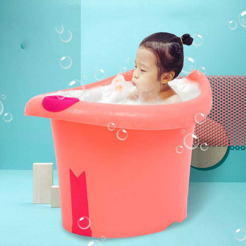 2018 Baby Toddlers Kids Bath Tub Water To Chest Bubble Bathtub Baby ...