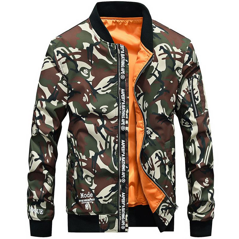 ee929c6e3614a Camouflage Jacket Male 2018 Spring Autumn New Hot Sale Men's Jacket ...