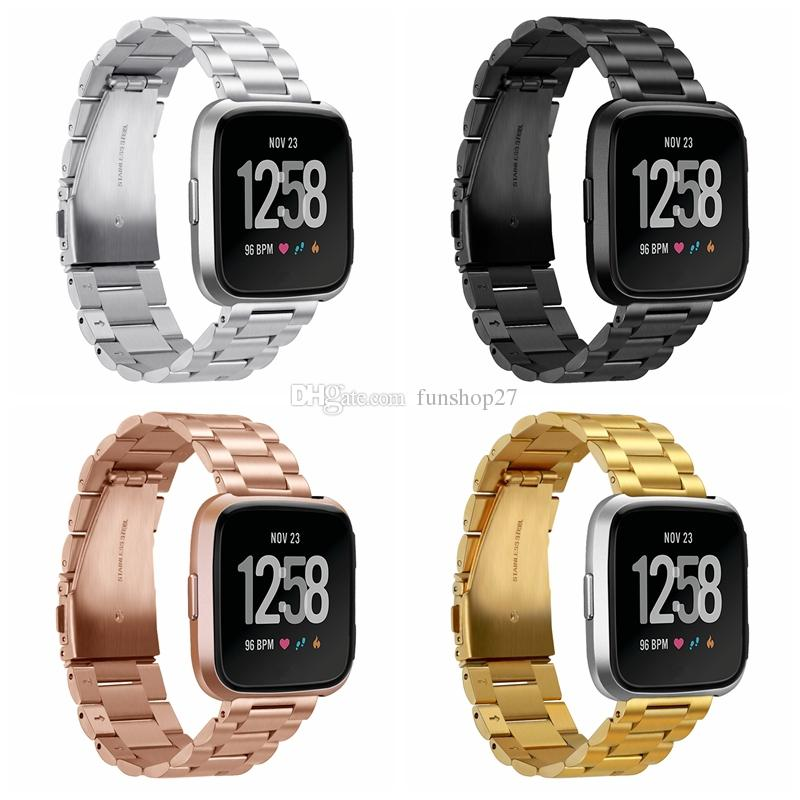 FC0196 Fitbit Versa Watch Bands Metal, Stainless Steel Bracelet Accessory Replacement Strap Wristband for Fitbit Versa Smartwatch