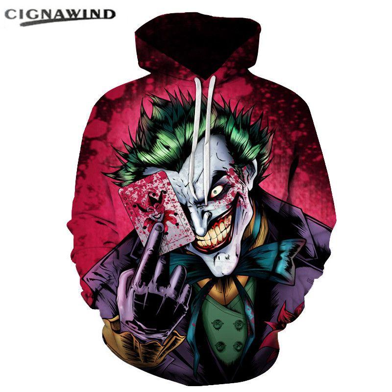 Casual Funny Joker Poker Hoodies Fashion Anime Sweatshirt 3d Printed Hoodie Hip Hop Men Women Tops Unisex Harajuku Sweatshirts