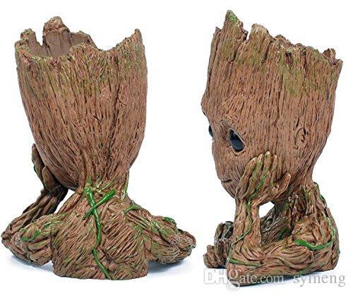 Guardiões da moda da galáxia flowerpot bebê groot figuras de ação modelo bonito caneta brinquedo pote melhores presentes de natal para as crianças coletar brinquedos