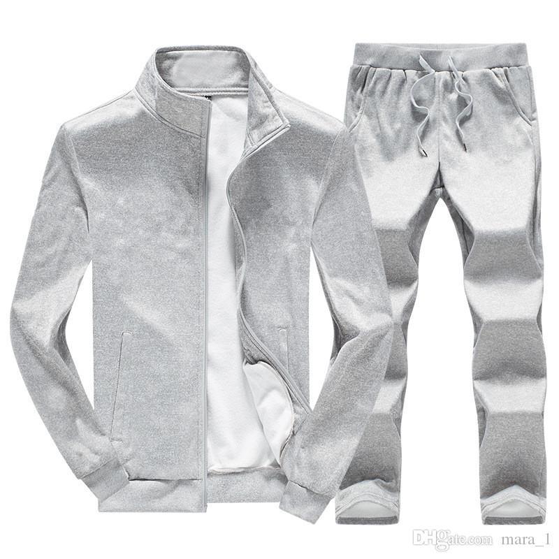 Acheter Hommes Sportswear Veste Pantalon Deux Pièces Ensemble Manteau  Survêtement Pantalon De Survêtement Marque Designer Sweat Costume De Sport  Hiver ... 6bd53dc57096