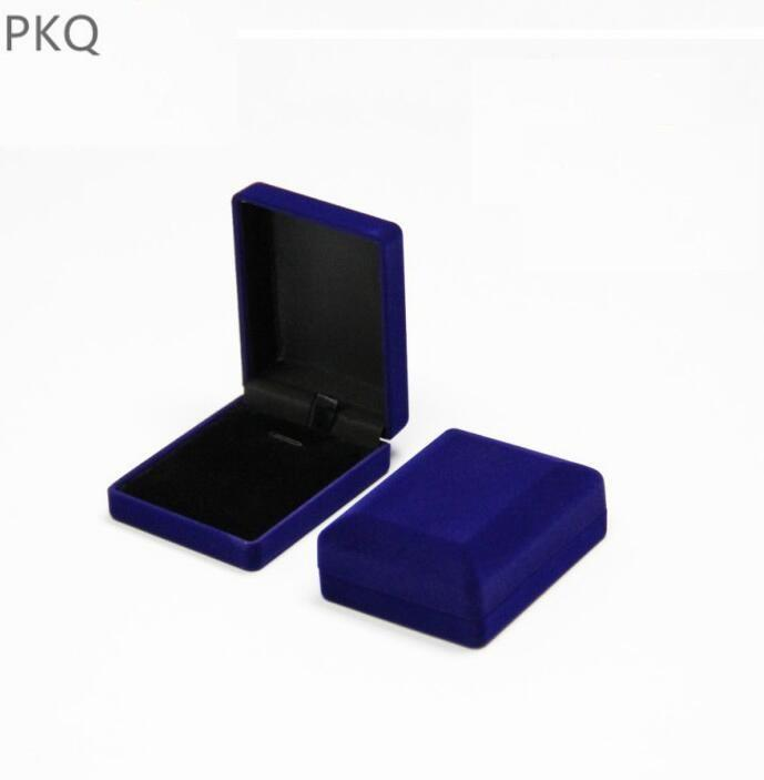 2018 New Engagement Blue Velvet Necklace Box Jewelry Display Gift