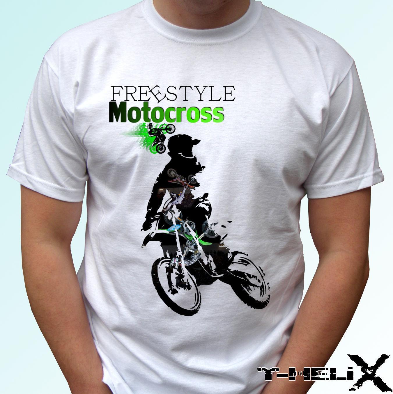 6c0eb7b9d Compre Freestyle Motocross Camiseta Blanca Top Sport Design Para Hombres  Mujeres Niños Bebés Cool Casual Pride Camiseta Hombres Unisex Nuevo A   13.91 Del ...