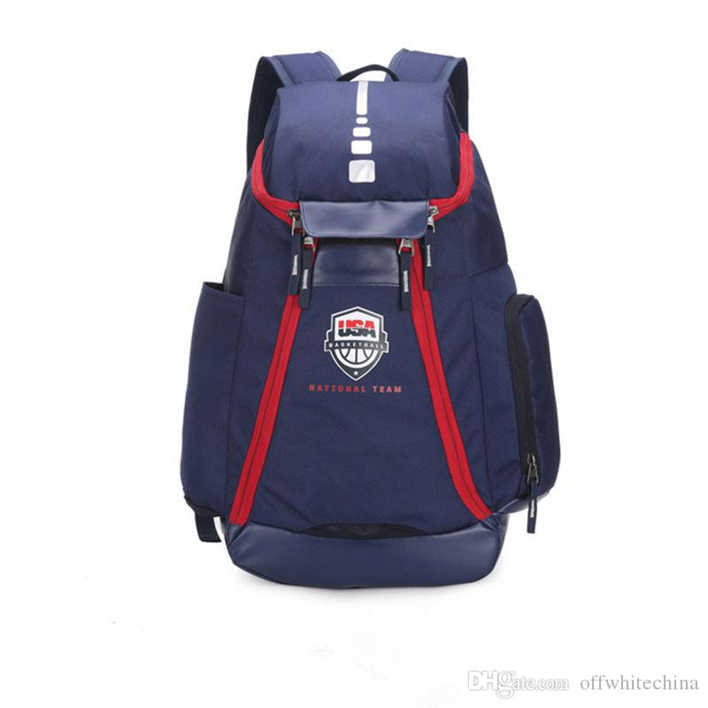 5417ce3b6df Basketball Backpacks New Olympic USA Team Packs Backpack Man S Bags School  Bag Large Capacity Training Travel Bags Shoes Bags Best Laptop Backpack  Wheeled ...